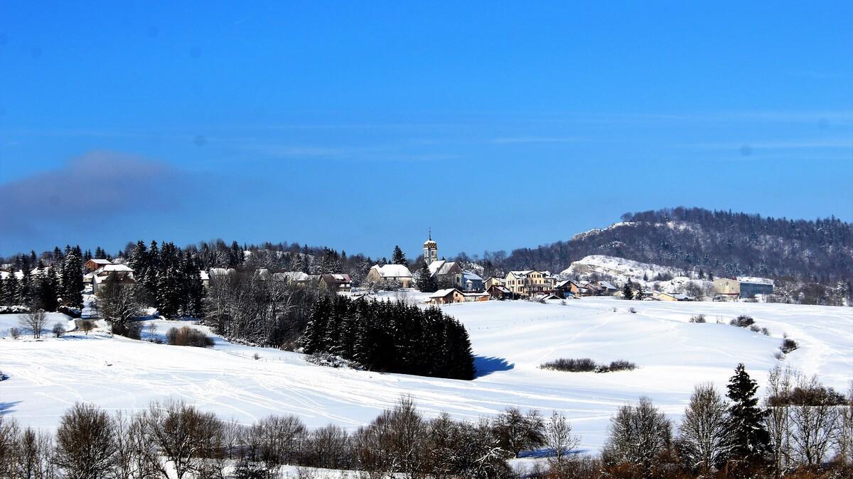 Vue du village depuis la descente des cotalets 11 janvier 2021